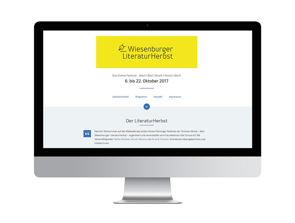 Literaturherbst Website